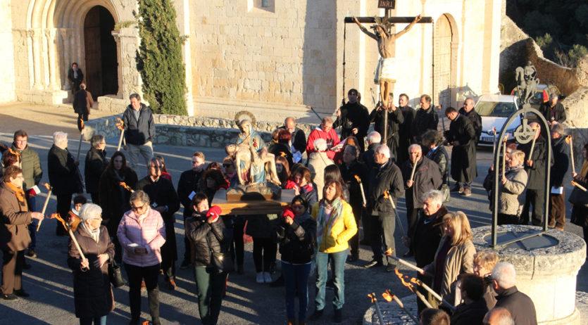 El Cos de Portants del Sant Crist de Sant Martí Sarroca celebra demà el Viacrucis