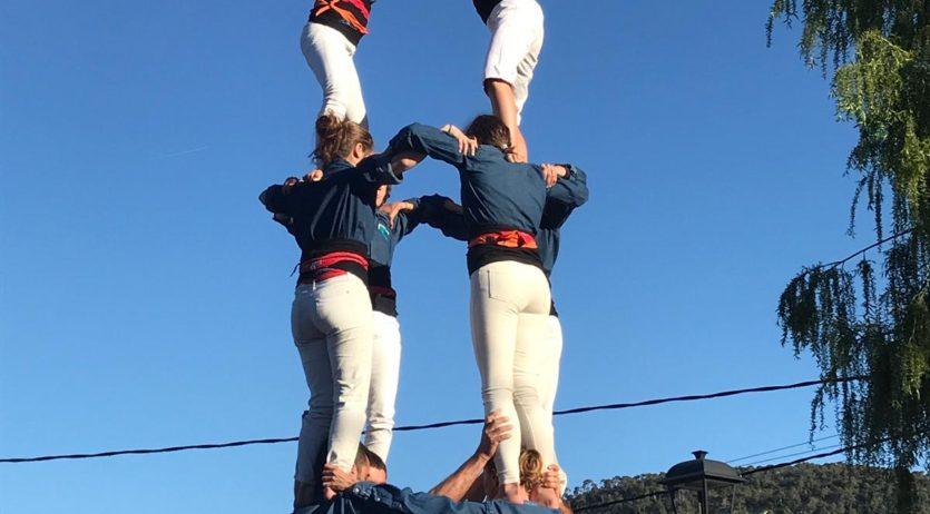 Els Castellers de Mediona han celebrat la Diada del seu segon aniversari a casa