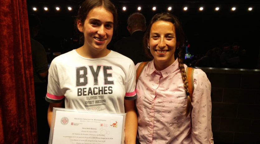 Berta Bach de l'Institut alt Penedès premiada a les proves Cangur de matemàtiques