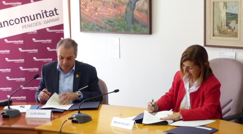 La Mancomunitat signa convenis amb l'ACA per millorar el sanejament de les aigües residuals