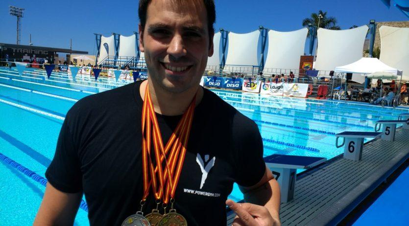 Toni Ponce guanya tres ors a Canàries i ja prepara el mundial