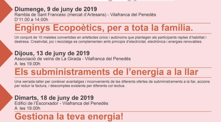 Diumenge s'enceten a Vilafranca els actes de la Setmana de l'Energia