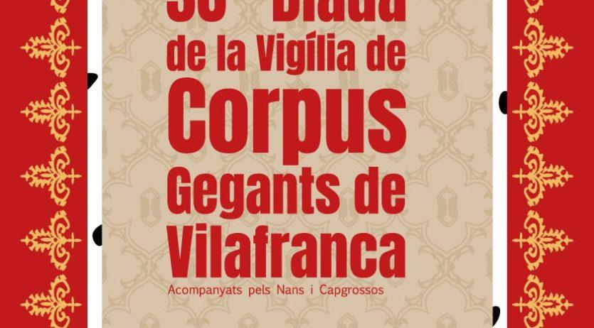 Els Geganters de Vilafranca preparen ja la 38ª Diada de la Vigília de Corpus