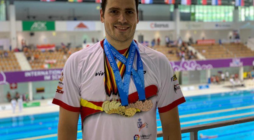 El nedador vilafranquí Toni Ponce torna a brillar a Berlín