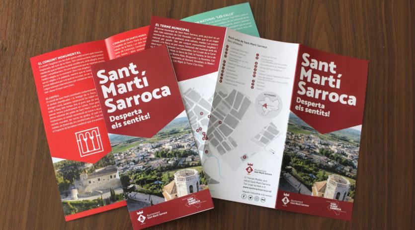 Sant Martí Sarroca renova el disseny del seus fulletons turístics