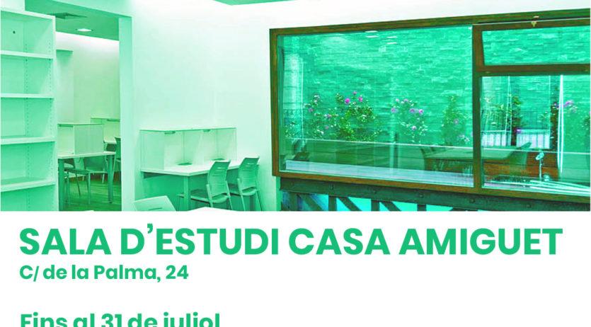 La sala d'estudi Casa Amiguet amplia la seva obertura fins a finals de juliol