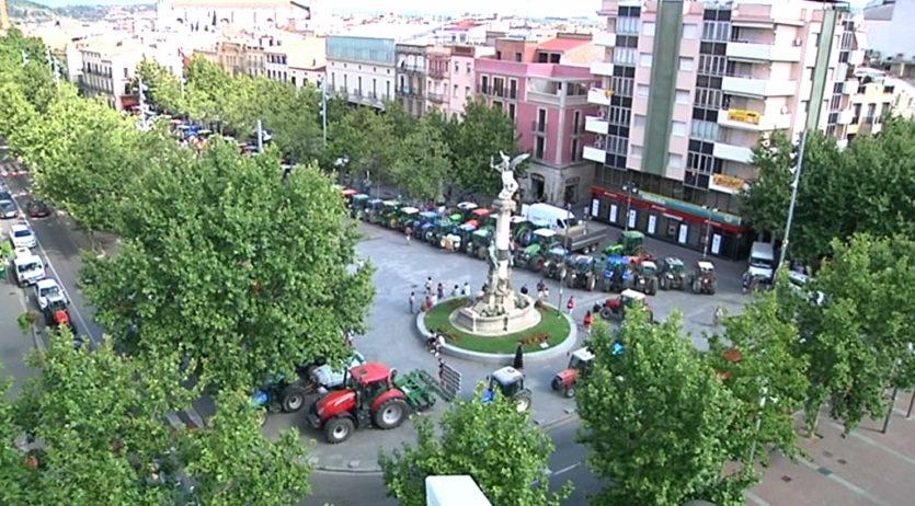 Avui es farà una nova concentració de viticultors amb tractors a Vilafranca