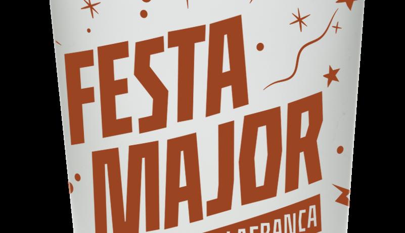 La Festa Major tindrà un got reutilitzable amb el grafisme de la festa