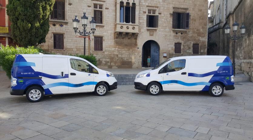 Aigües de Vilafranca estrena nous vehicles elèctrics