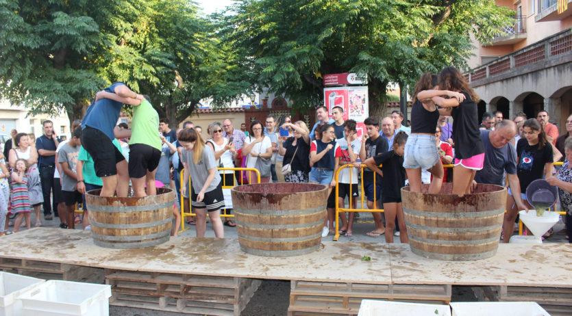 Aquest diumenge el Centre de Sant Martí Sarroca organitza un nou concurs de trepitjada de raïm