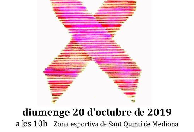 Diumenge es celebra a Sant Quintí la novena cursa de la dona contra el càncer de mama