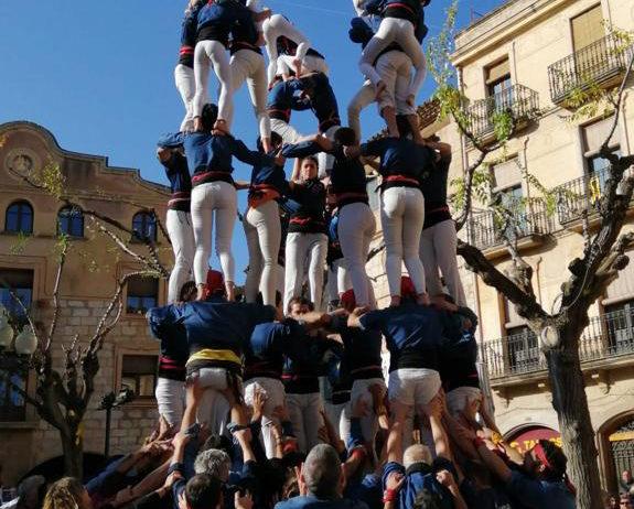 Els Castellers de Mediona estrenen el 9 de 6 en l'actuació de Montblanc