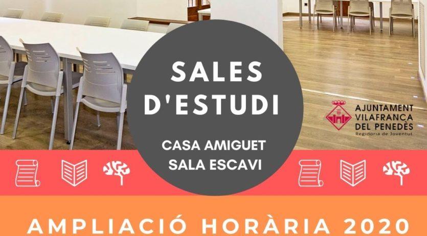 Les sales d'estudi de Vilafranca tornen a ampliar els seus horaris durant el període d'exàmens
