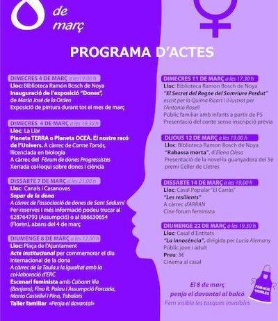 La regidoria d'Igualtat de Sant Sadurní programa diverses activitats al voltant del 8 de març