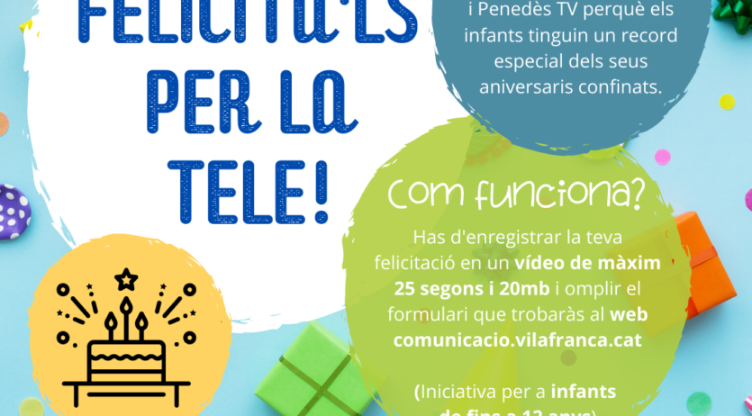 L'Ajuntament i PTV engeguen una iniciativa per felicitar l'aniversari als infants que fan anys
