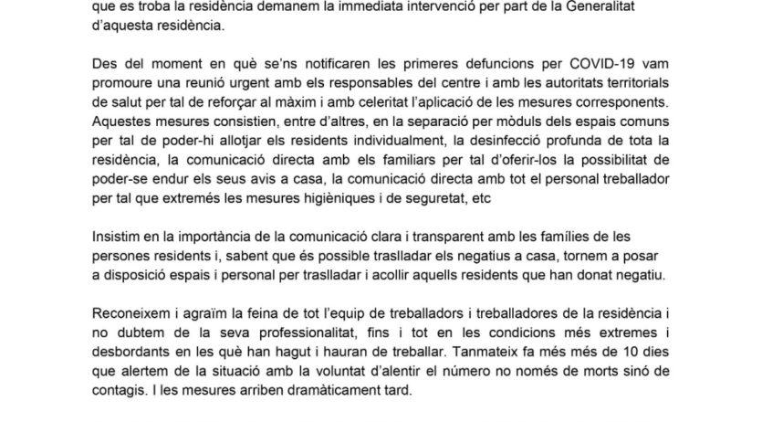L'Ajuntament de Mediona demana la intervenció de la Generalitat a la residència Novallar
