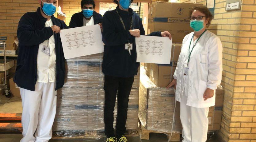 Família Torres dona  30.000 mascaretes quirúrgiques a diferents entitats locals i col·lectius