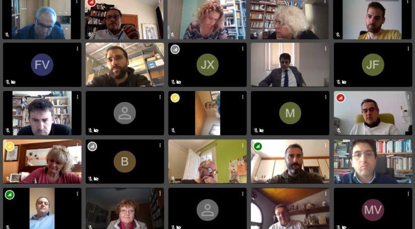 Trobada d'alcaldes i regidors de Junts Pel Penedès amb Marc Castells