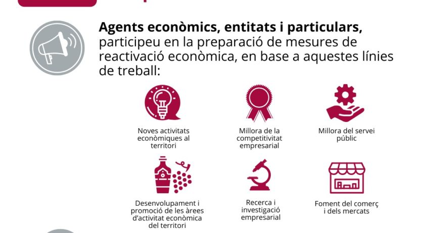 L'Ajuntament de Vilafranca fa una crida a aportar propostes per a la reactivació econòmica