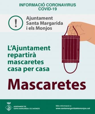 L'Ajuntament dels Monjos compra mascaretes per repartir casa per casa i al comerç