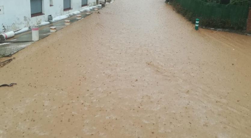 La tarda del dissabte passat va caure una forta tempesta d'aigua al barri de La Bleda