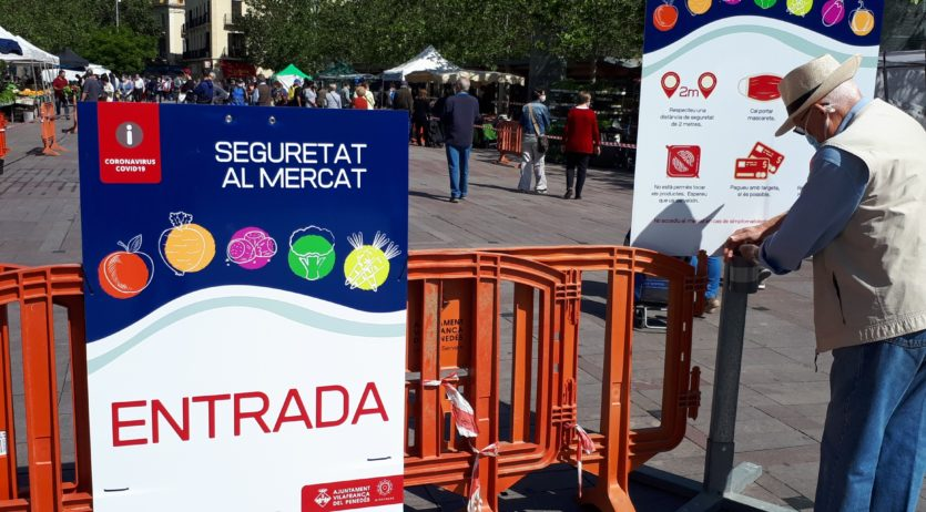 Dissabte el mercat s'amplia amb parades a les zones de Jaume I i plaça de l'Oli
