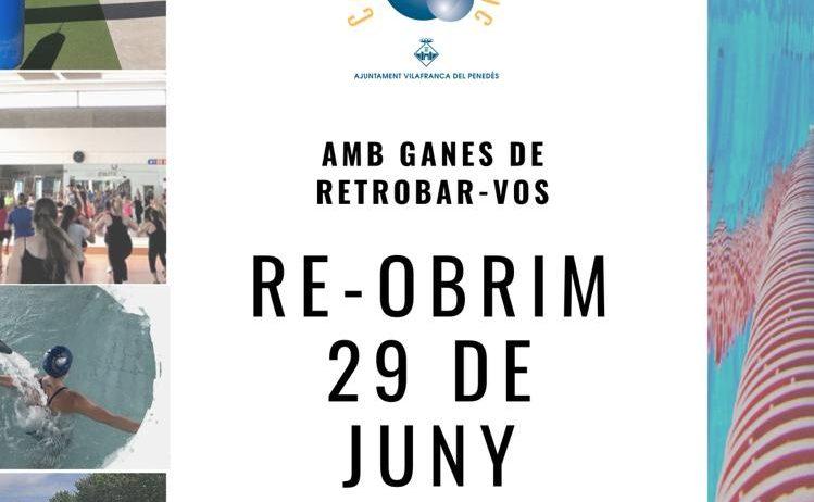 La propera setmana reobre el Complex Aquàtic de Vilafranca, amb tots els serveis