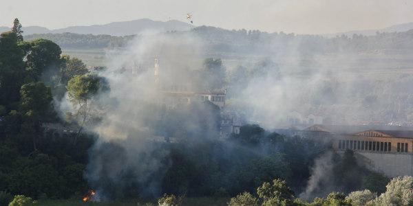 Dimarts es va produir un incendi de vegetació dins les Caves Codorniu