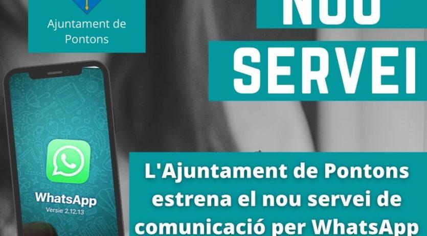 Pontons estrena el nou servei de comunicació per WhatsApp