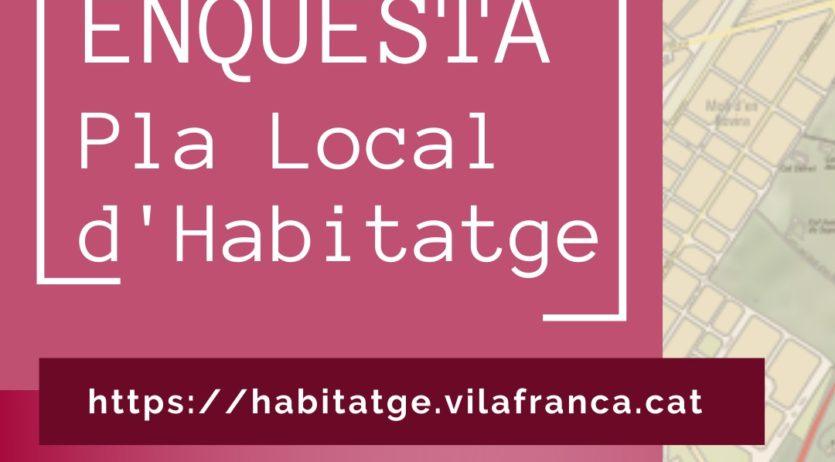 Fins al 30 de novembre es pot participar en l'enquesta del Pla Local d'Habitatge de Vilafranca