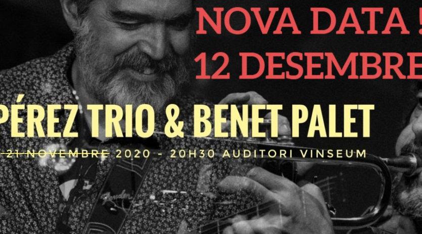 Jazz Club Vilafranca reprograma el concert de Dani Pérez Trio per el 12 de desembre