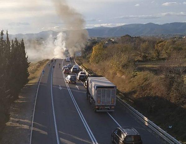 El conductor d'un turisme va morir dissabte en un accident a l'N-340 als Monjos