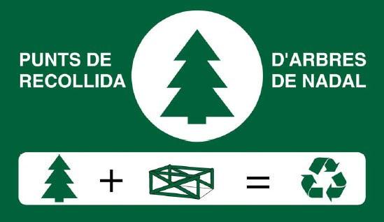 A partir de dissabte s'instal·len punts de recollida d'arbres de Nadal a Vilafranca