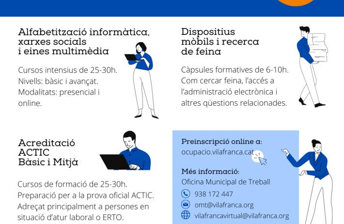 Nova programació formativa al Punt TIC Vilafranca Virtual