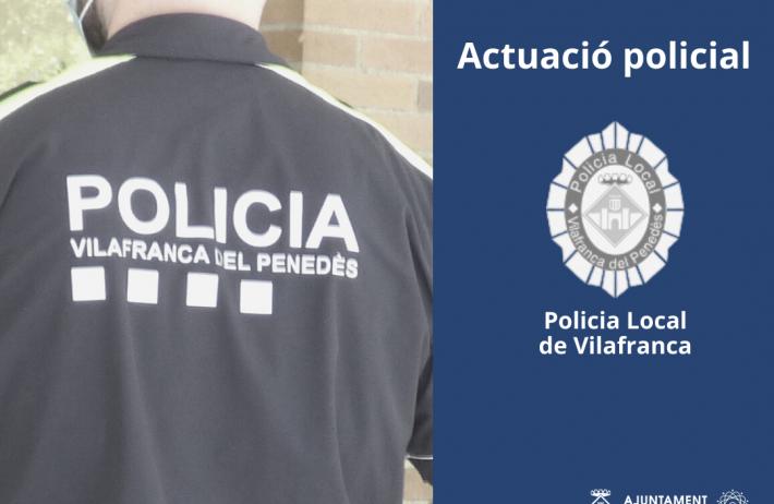 La Policia Local de Vilafranca deté els autors de dos robatoris amb violència i intimidació