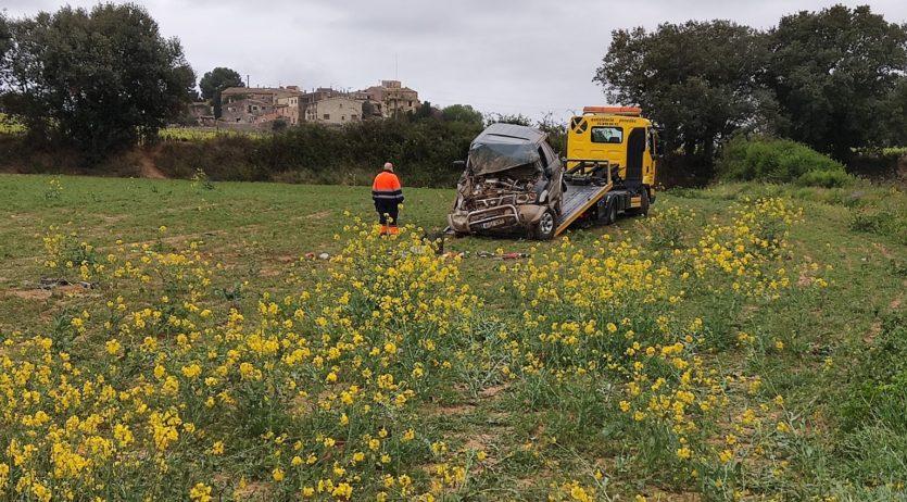 Mor el conductor d'un totterreny a la BV-2116 a Castellet i la Gornal