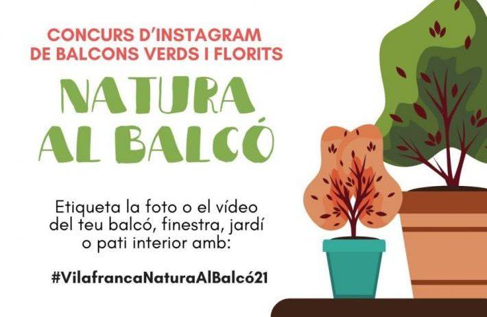 Comença 'Renaturalitzem Vilafranca' amb el concurs d'Instagram #VilafrancaNaturaAlBalcó21