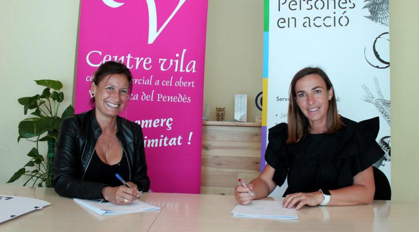 Centre Vila i la cooperativa d'inserció laboral Entrem signen un conveni de col·laboració
