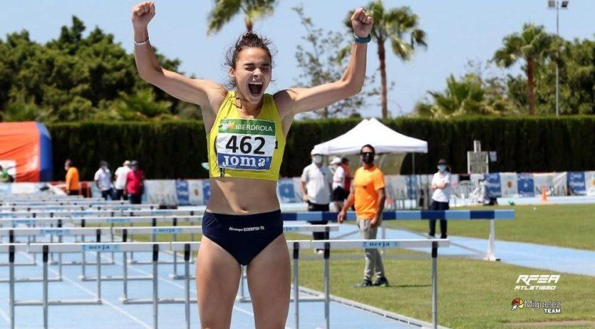Xènia Benach, campiona d'Espanya de 100m tanques amb rècord inclòs