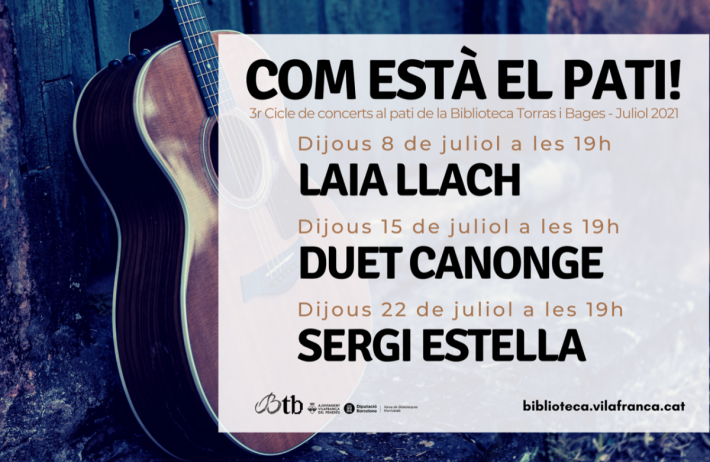 Dijous arrenca la tercera edició del cicle de concerts 'Com està el pati!', a la Torras i Bages