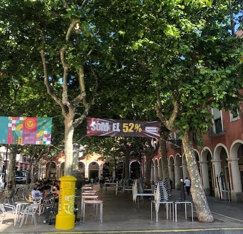Cs Vilafranca creu que l'Ajuntament incompleix les normes en permetre pancartes partidistes