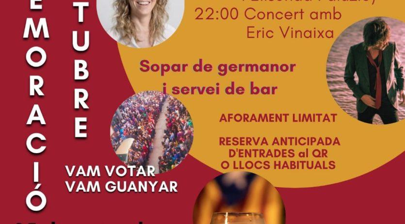 Elisenda Paluzie participarà als actes de la 4ª commemoració de l'1 d'octubre a Sant Sadurní