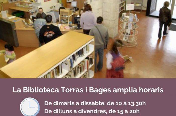 La Biblioteca Torras i Bages amplia l'horari