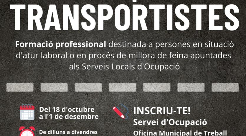 L'Ajuntament de Vilafranca ofereix formació en el sector del transport