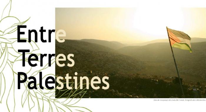 Exposició sobre Palestina al claustre de Sant Francesc
