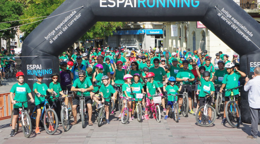 Dos anys després, els Castellers de Vilafranca tornen a organitzar la popular Pedalada Verda