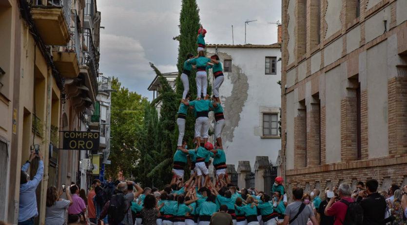 Els Verds completen la primera actuació amb tres castells i pilar des de l'inici de la pandèmia