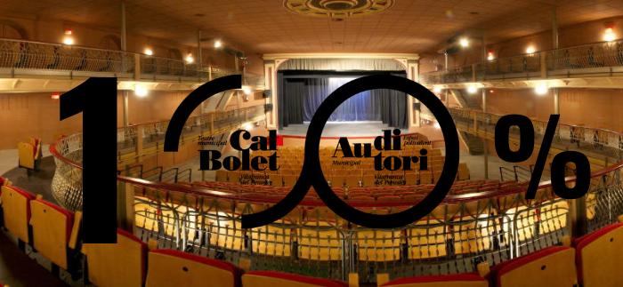 El 14 de novembre serà el primer dia amb el 100% d'aforament a l'Auditori de Vilafranca